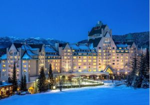 Skiing at the Fairmont Chateau Whistler